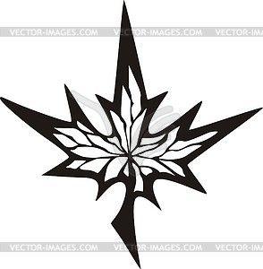 Maple leaf tattoo - vector clip art