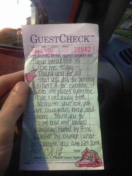 Firefighters Pay it Forward Big Time After Waitress With Heart of Gold Picks Up…