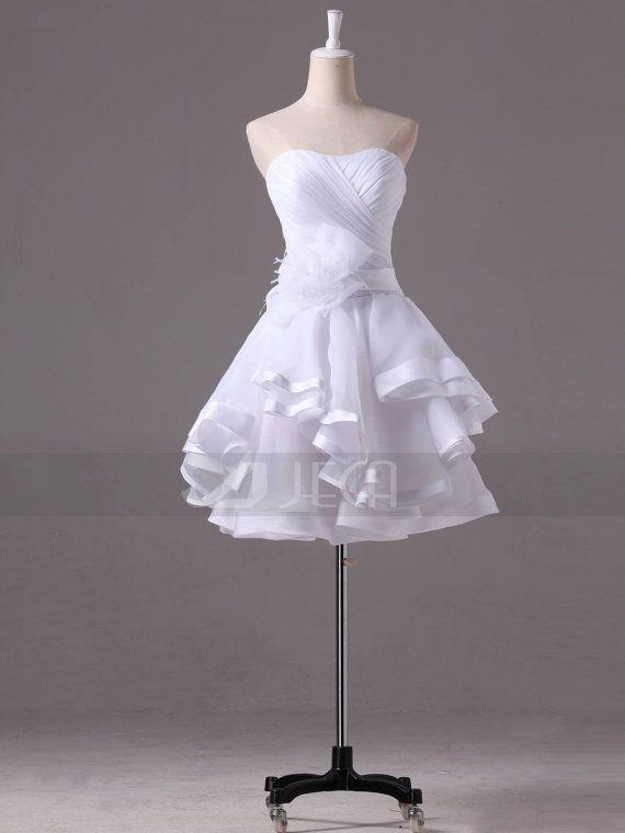Chic Mini-length Wedding Dress Summer Wedding Dress door JecaBridal