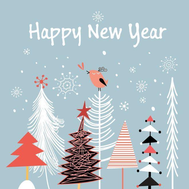 новогодние открытки стильные современные пастелью -это