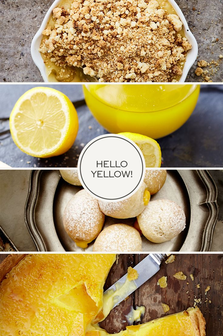 We love these sunshine hued recipes! Our Top 10 Favourite Yellow Recipes.