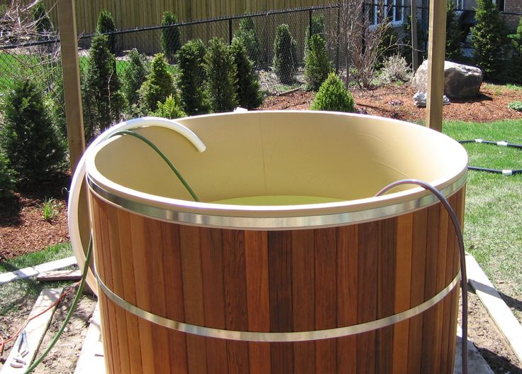 1000 images about building a cedar hot tub in a deck on for Tub liner