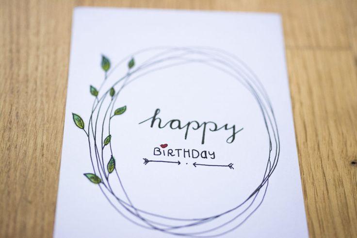 Lettering Geburtstagskarte
