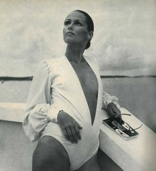 puffy silky sleeves: Lauren Hutton in Vogue, 1969.