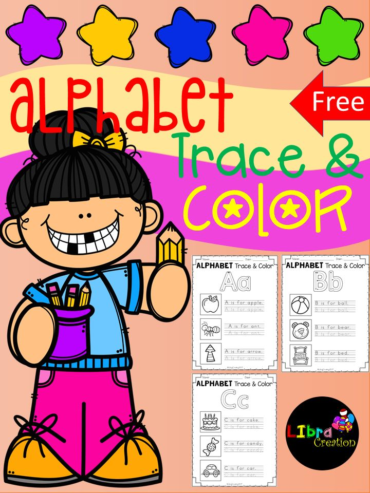 Free, Freebies, Free Alphabet, Alphabet Product, Alphabet Activities, Alphabet Fun Activities, Alphabet, Alphabet Trace & Color, Pre-K, Kindergarten, 1st Grade