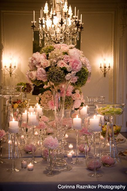 pink and green reception wedding flowers,  wedding decor, wedding flower centerpiece, wedding flower arrangement, add pic source on comment and we will update it. www.myfloweraffair.com can create this beautiful wedding flower look.