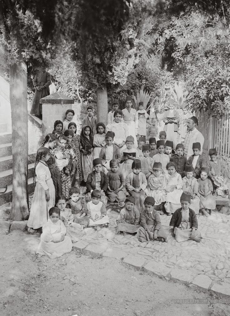 English Mission School Children: Nablus, Palestine 1900-1920