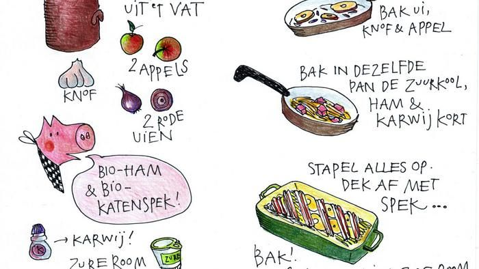 Kookboekenmaker, kok en illustrator Yvette van Boven maakt elke week een gerecht in de oven.