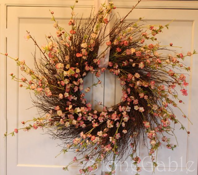 Easy to make Cherry Blossom Wreath