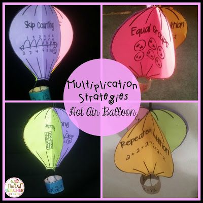 Multiplication strategies for math workshop craftivities and hands on- a FREE craftivity!