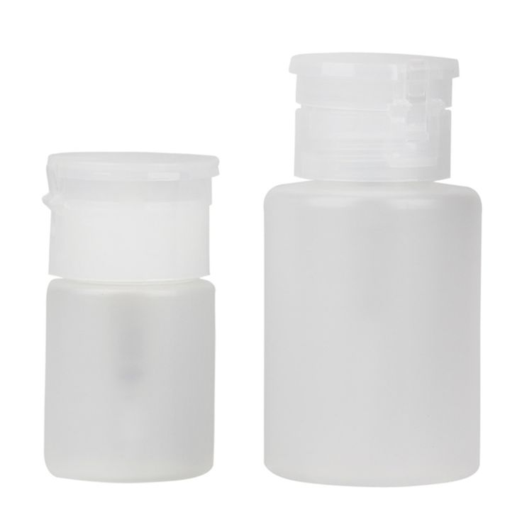 2pcs Pump Dispenser Nail Art Polish Remover Cleaner Acetone Bottles Liquid Gel Nail Polish Remover Bottle