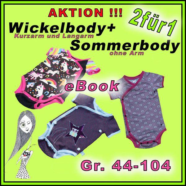 Wickelbody eBook + Sommer-Body eBook, 44-104 von Aika ;) auf DaWanda.com