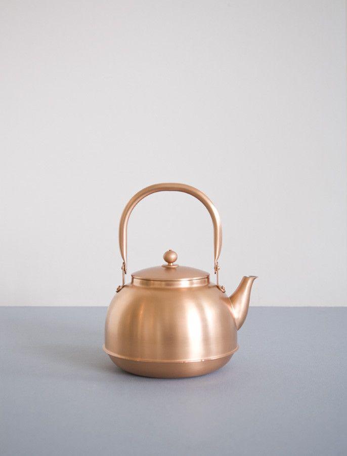 Azmaya Japanese Copper Kettle: Remodelista #pintowin #anthropologie