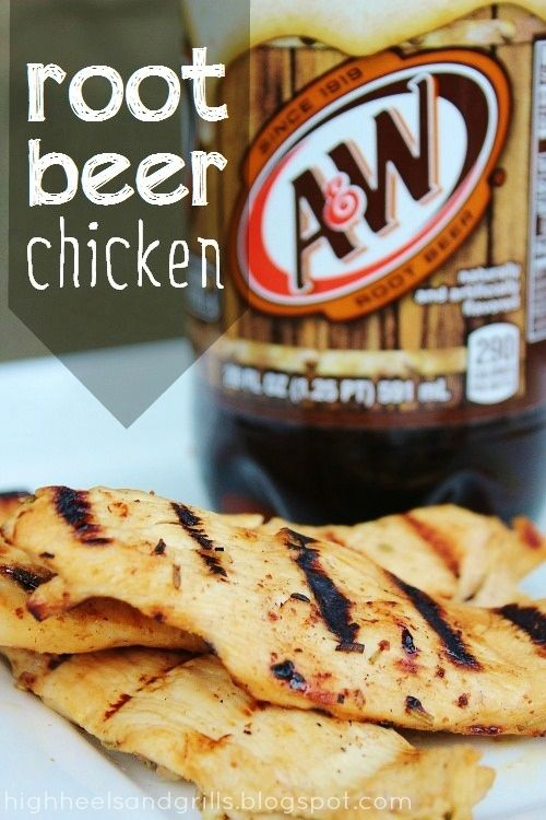 High Heels and Grills: Man Mondays: Root Beer Chicken. This chicken was gone within seconds of making it. If you love root beer and you love chicken - this is the perfect recipe for you!