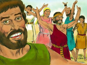 Free Bible illustrations at Free Bible images of Moses and the Red Sea crossing. (Exodus 13:7 - 15:21): Slide 20