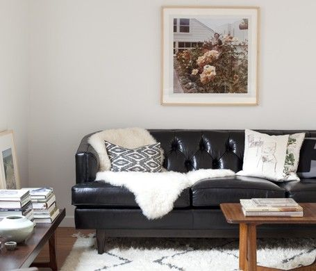 25 best ideas about Black leather couches on Pinterest Black