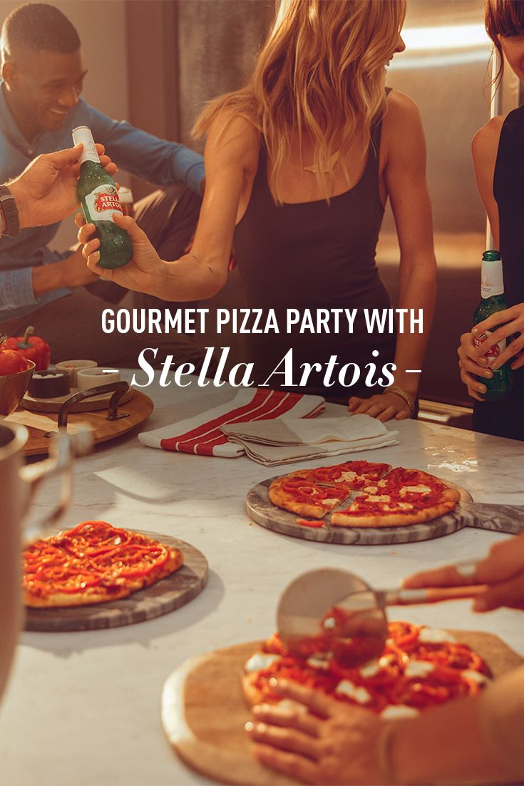 Why put an age limit on pizza parties? This summer, invite your closest friends to an interactive, delicious dining experience with Stella Artois. Slice a variety of meats and vegetables — then allow the pizzas to serve as canvases for your guests' works of culinary art.