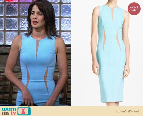 Robin\u0026#39;s light blue dress with nude insets on How I Met Your Mother ...