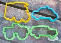 "Cookie cutters set ""Machinery "" 4 pcs"