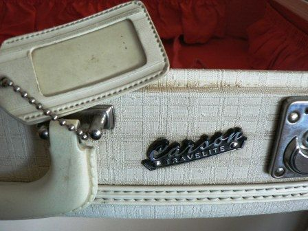 Vintage luggage ... CARSON TRAVELITE by LandLockedCottage on Etsy, $45.00