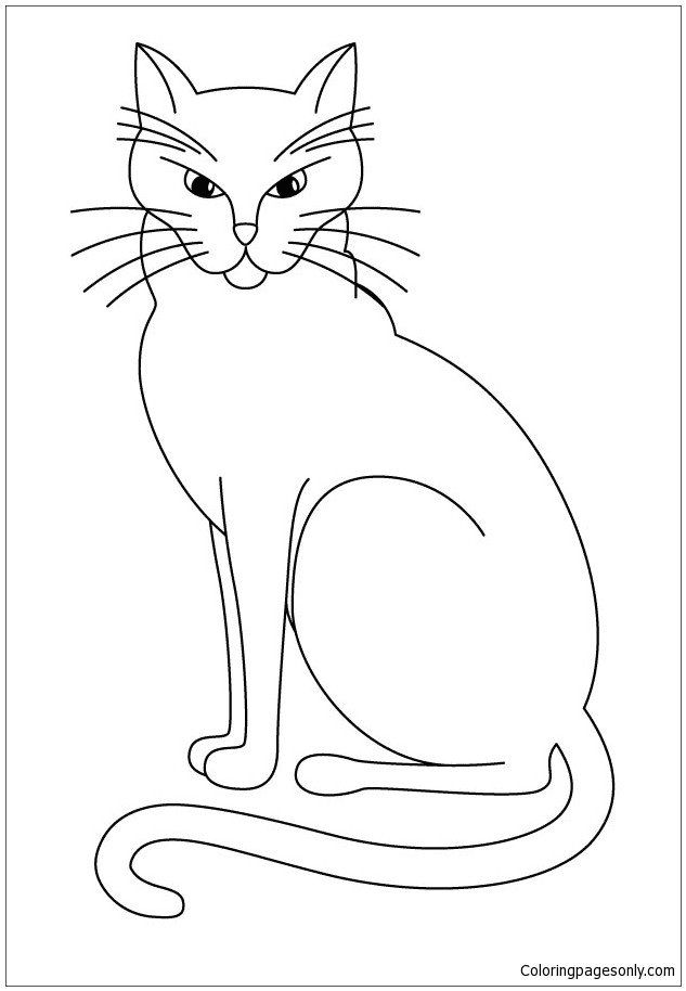Black Cat Coloring Pages Black Cat Coloring Page Free Coloring Pages Line In 2020 Cat Coloring Page Animal Coloring Pages Cat Outline