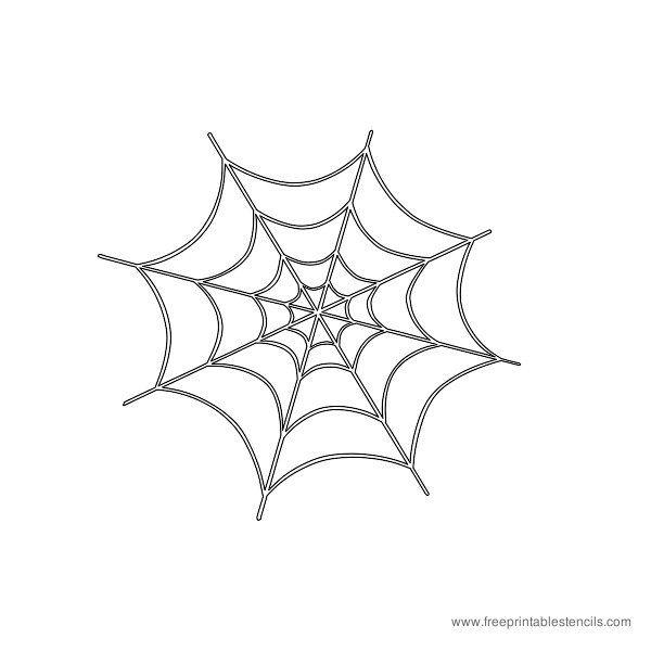 Spiderweb Halloween Printable Stencil