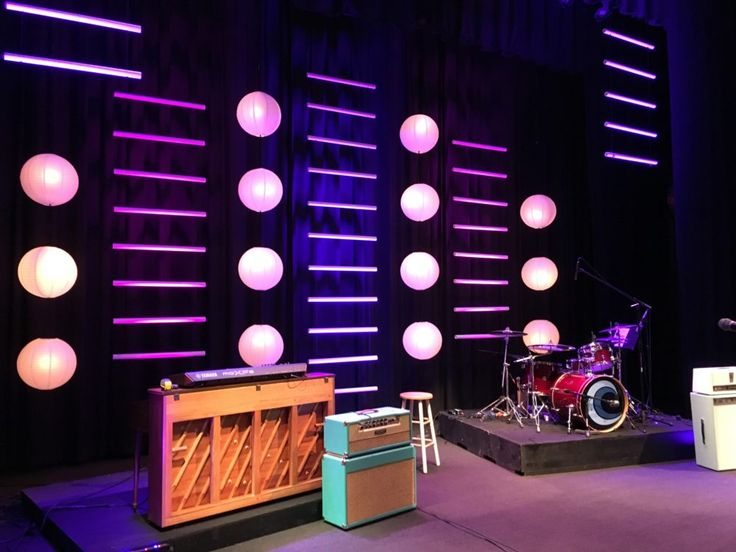 Lanterns and Pipe from Pawleys Island Community Church in Pawleys Island, SC | Church Stage Design Ideas
