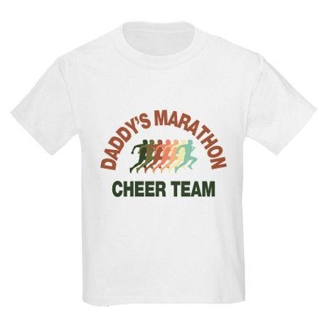 daddys marathon cheer team T-Shirt on CafePress.com  support marathon dad