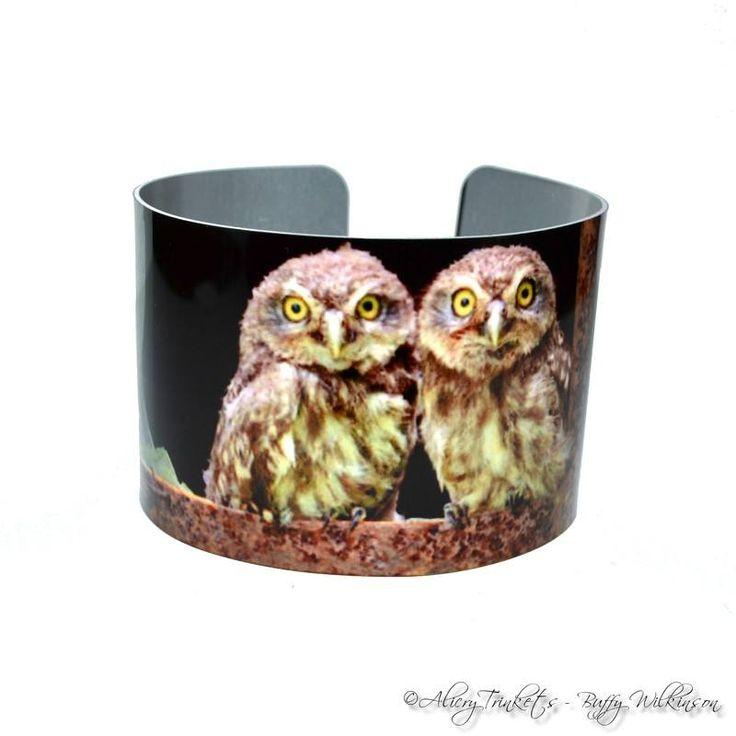 Owls – printed cuff bangle bracelet (Copy)