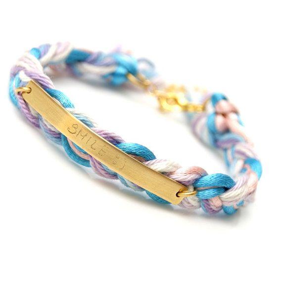 personalized braid bracelet