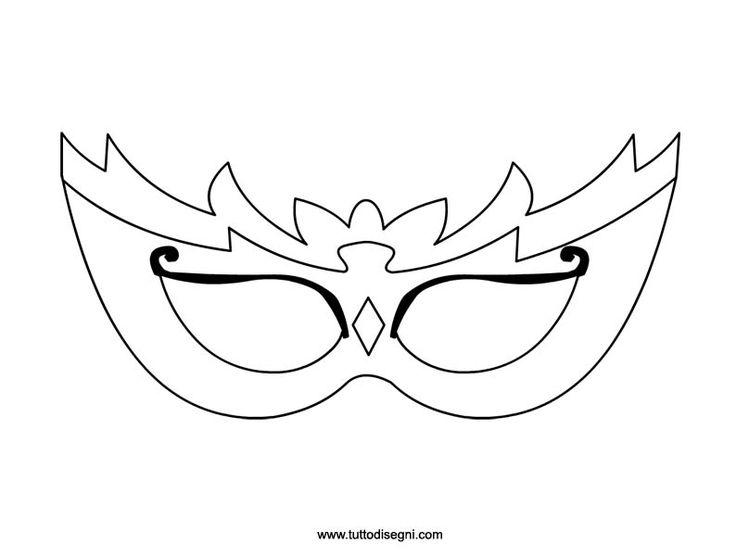 Maschere da colorare e ritagliare - TuttoDisegni.com
