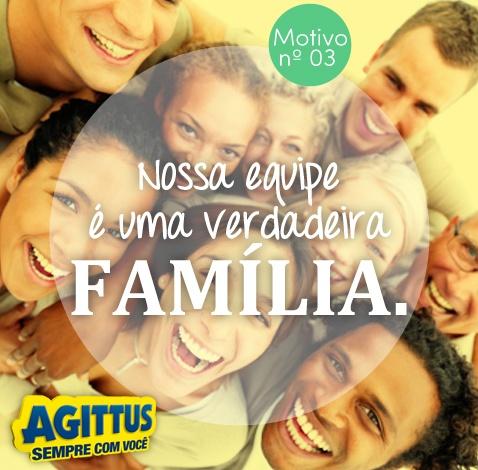 Ao entrar em uma loja Agittus Calçados você percebe o carinho de nossa equipe. Somos tão unidos que parecemos uma família! Esse é mais um dos 20 motivos para você curtir a Agittus!