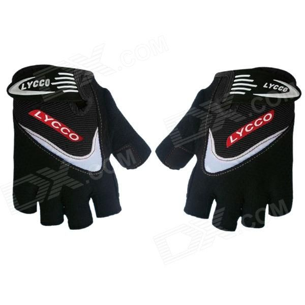 Brand: LYCCO; Model: C100; Quantity: 2; Color: Black; Material: Microfiber; Size: L; Gender: Unisex; Best use: cycling; Other Features: By using lycra microfiber designs, and rubber printing process to improve appearance and anti-slip effect; Packing List: 2 x Gloves; http://j.mp/VIKbzk