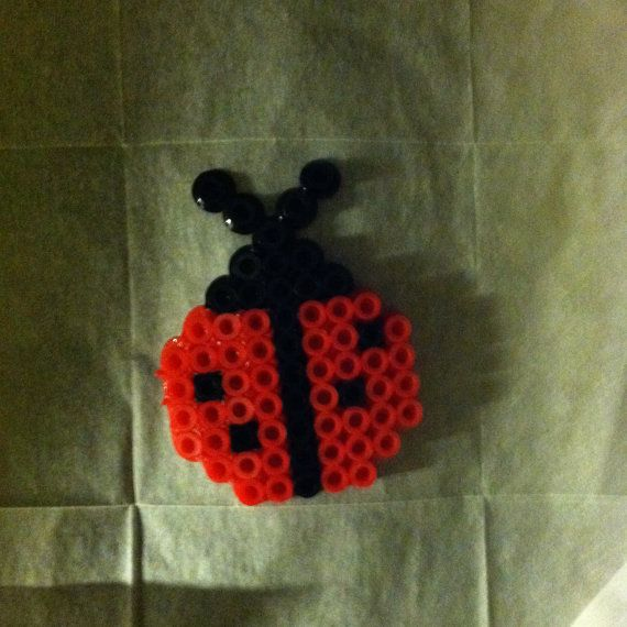 Perler Bead pins/earrings/magnets by AverysLadybug on Etsy, $3.00