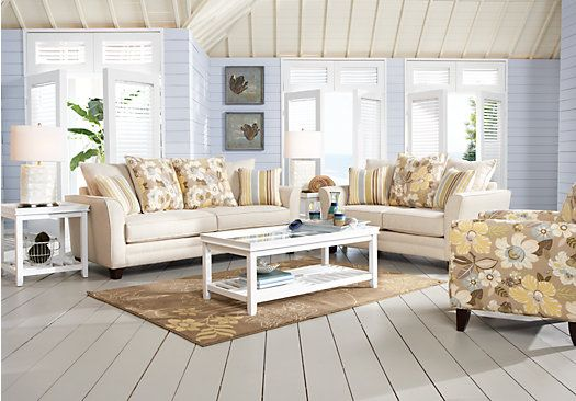 Shop for a garden hills 7 pc sleeper living room at rooms for Find living room furniture