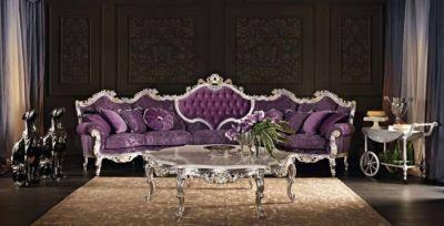 Purple sofa. Collection Villa Venezia. http://www.modenesegastone.com/eng/classic/html/villa-venezia.htm