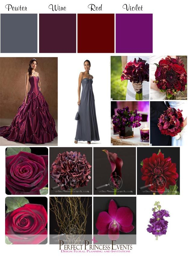 wine wedding colors