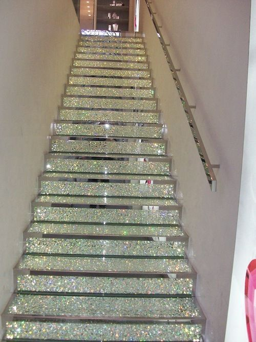 Glitter staircase? Um yes!