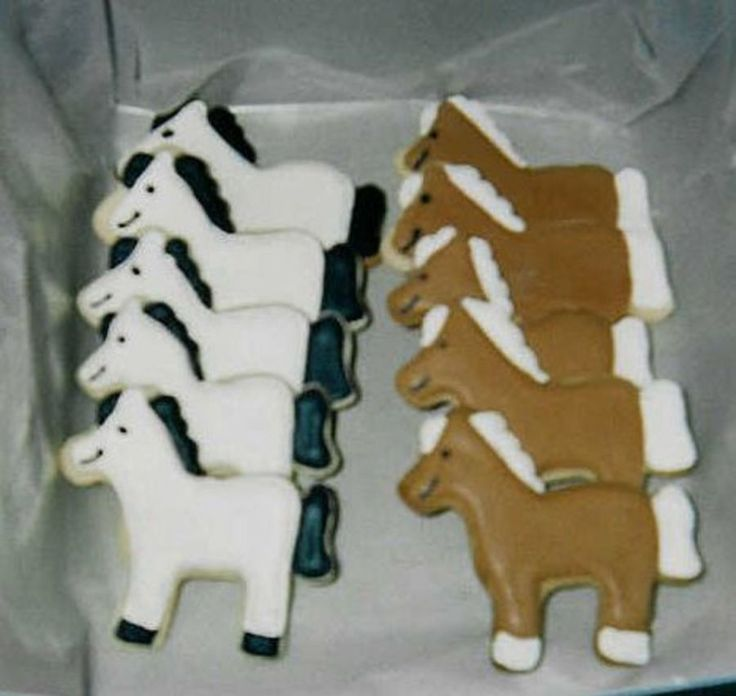 These horse cookies were made for part of a horse-themed...