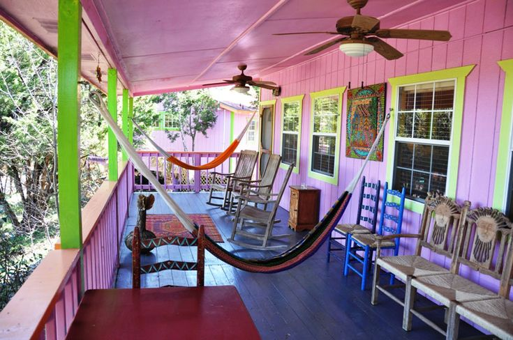 Lost Parrot Cabins in Austin TX, check out the web site...never been there, but it looks like a great place