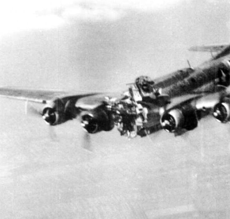 A B-17 takes a direct hit over Budapest.  Five men were able to bail out before the plane hit the ground.  You can bet that the pilot and co-pilot were not among them.