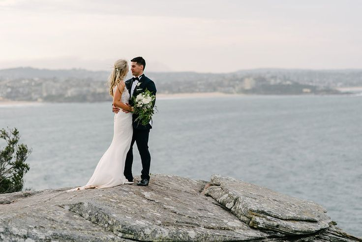 Real Bride Renee and Jimmy's Sydney's northern beaches wedding! Photographer Matthew Mead captured there special day beautifully... #modernbride #modernwedding #beachwedding #weddingdress #bride