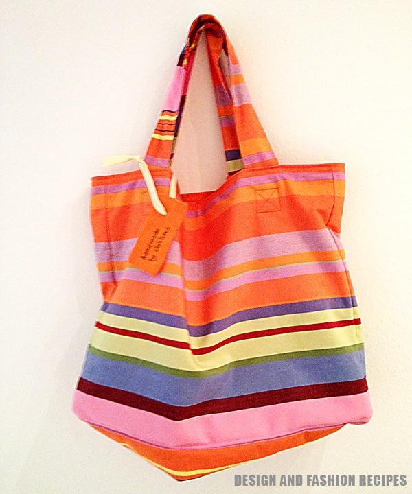 DIY: Beach bag on Design and fashion recipes by Cristina Dal Monte