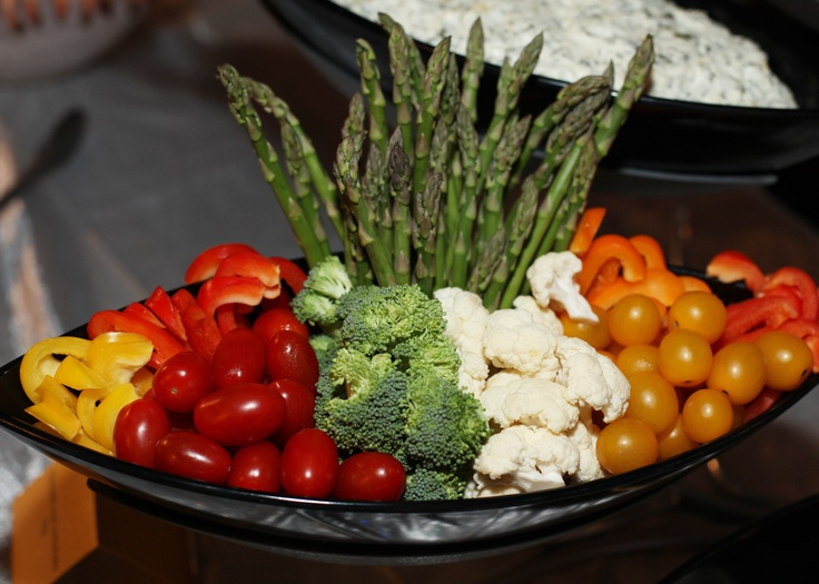 Now that's a veggie tray! We do a lot of them for people.