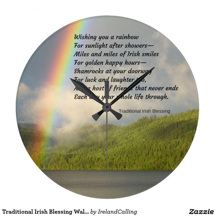 Traditional Irish Blessing Wall Clocks