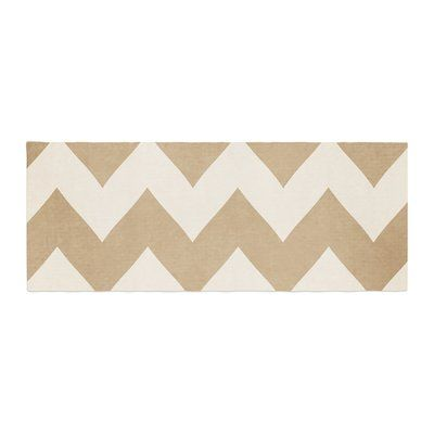 East Urban Home Catherine McDonald Biscotti Chevron Bed Runner