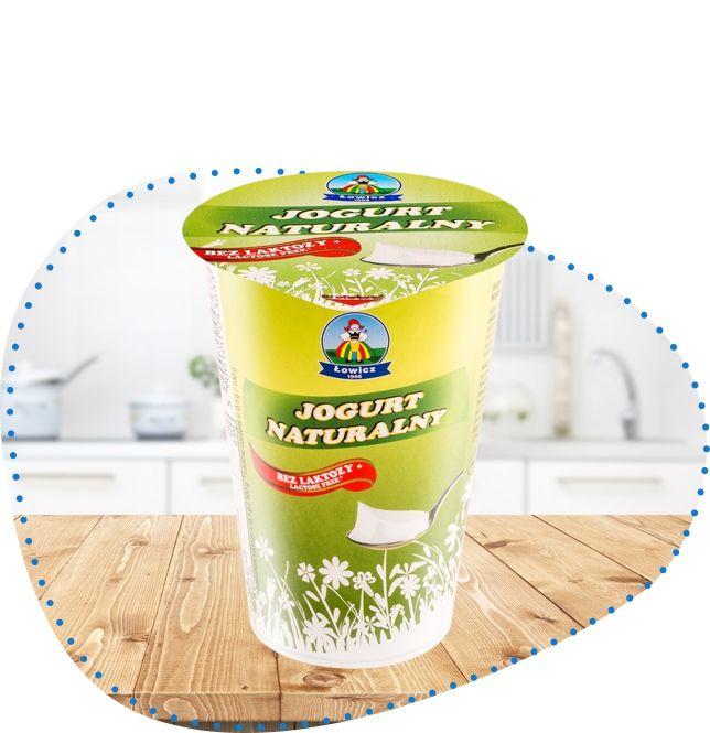 Jogurt naturalny bez laktozy 2.5% | OSM Łowicz