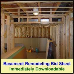 """Planning a basement remodeling project. Then learn how to frame basement walls and download my """"Basement Remodeling Bid Sheet"""""""