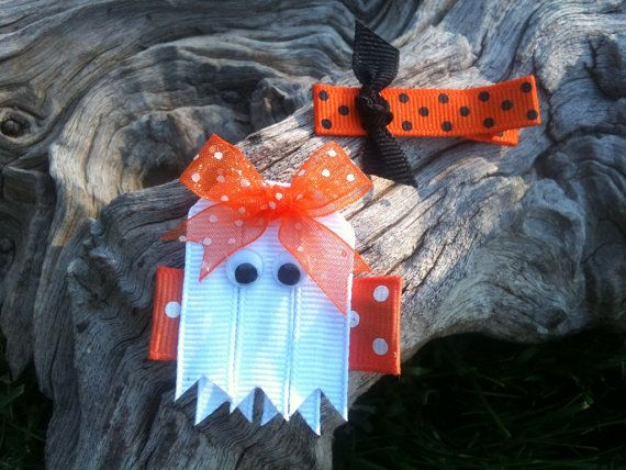 Spooky Ghost... Halloween Ribbon Sculpture Set via Etsy