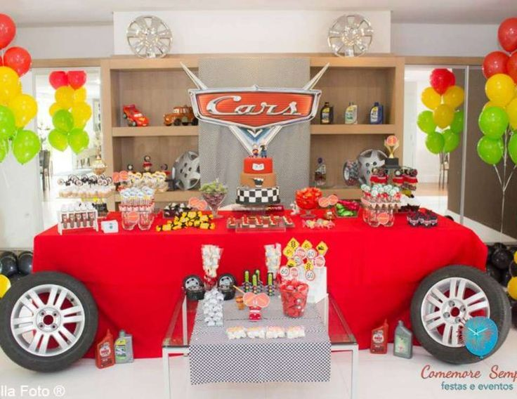 "Cars - Disney / Birthday ""Cars party in a Double celebration. The passion of father and Son. "" 